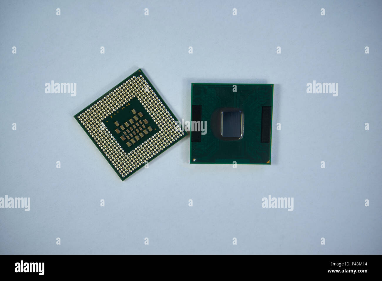 Central processing unit CPU processors microchip - Stock Image