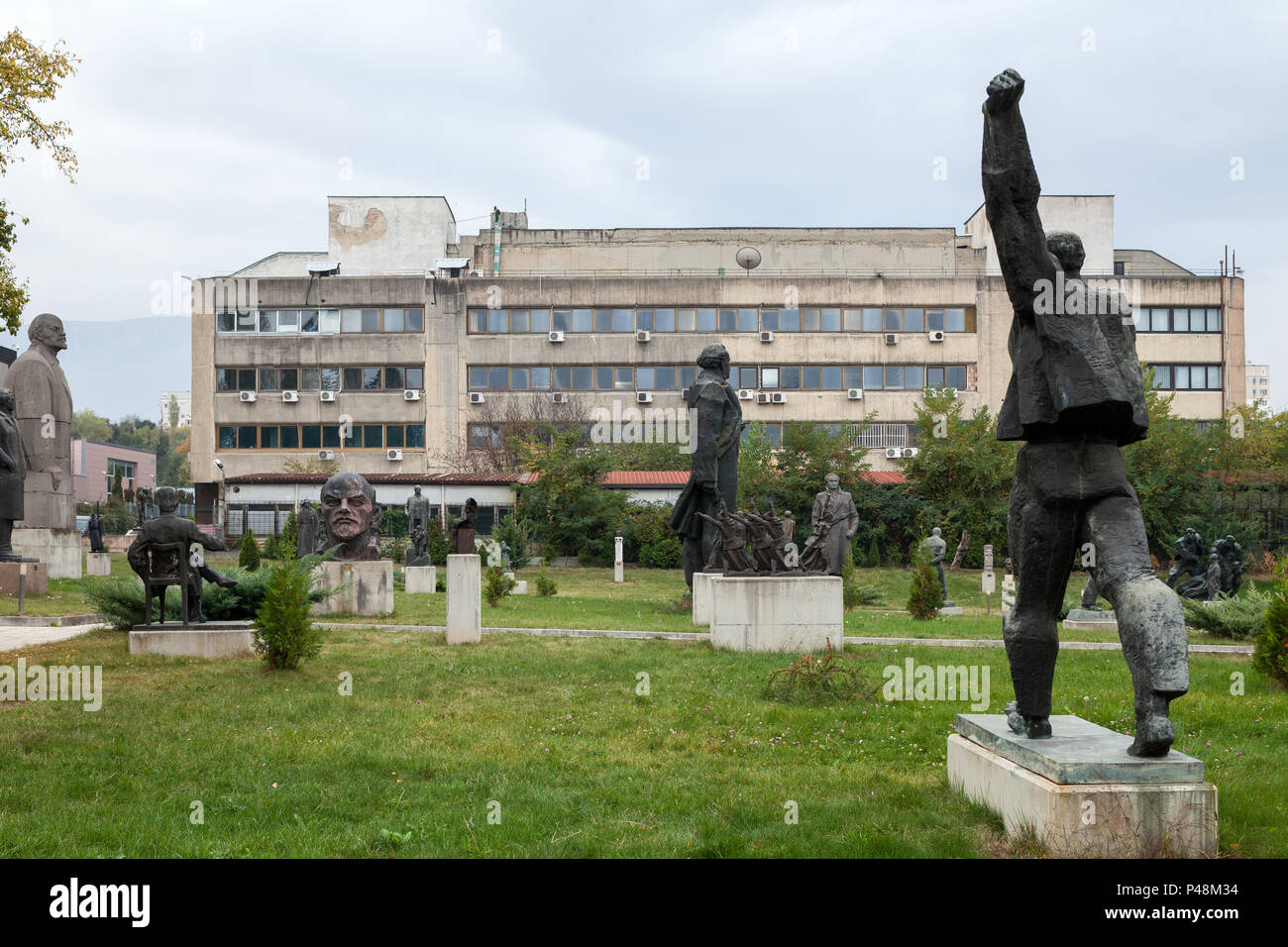 Sofia, Bulgaria, exhibition site for socialist monuments - Stock Image