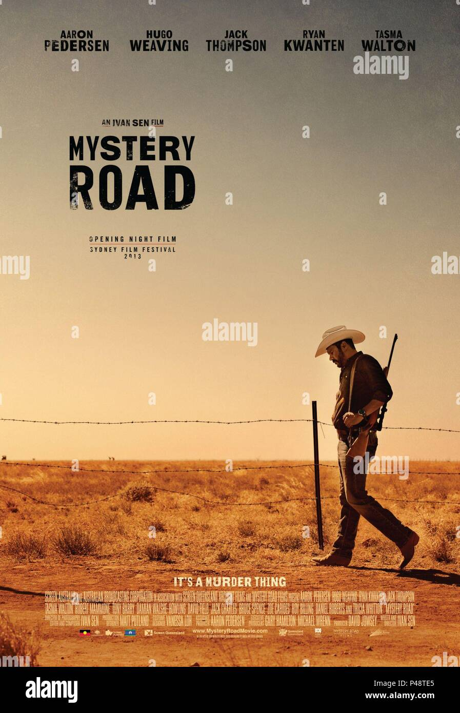 Original Film Title: MYSTERY ROAD.  English Title: MYSTERY ROAD.  Film Director: IVAN SEN.  Year: 2013. Credit: SCREEN AUSTRALIA / Album - Stock Image