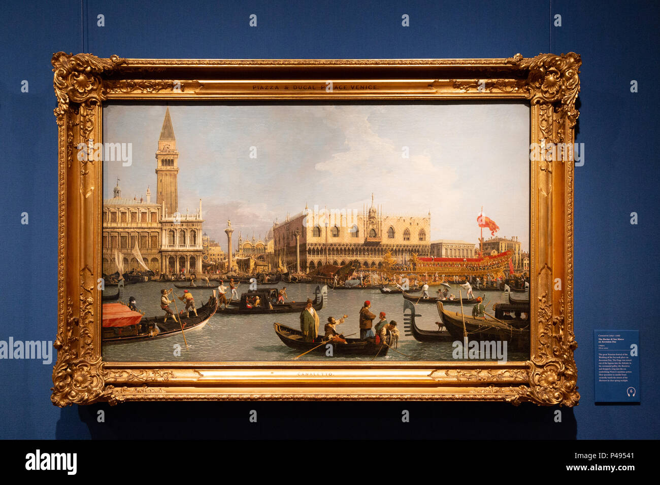 Canaletto ainting; The Bacino Di San Marco on Ascension Day; c 1743; The Queens Gallery edinburgh UK - Stock Image