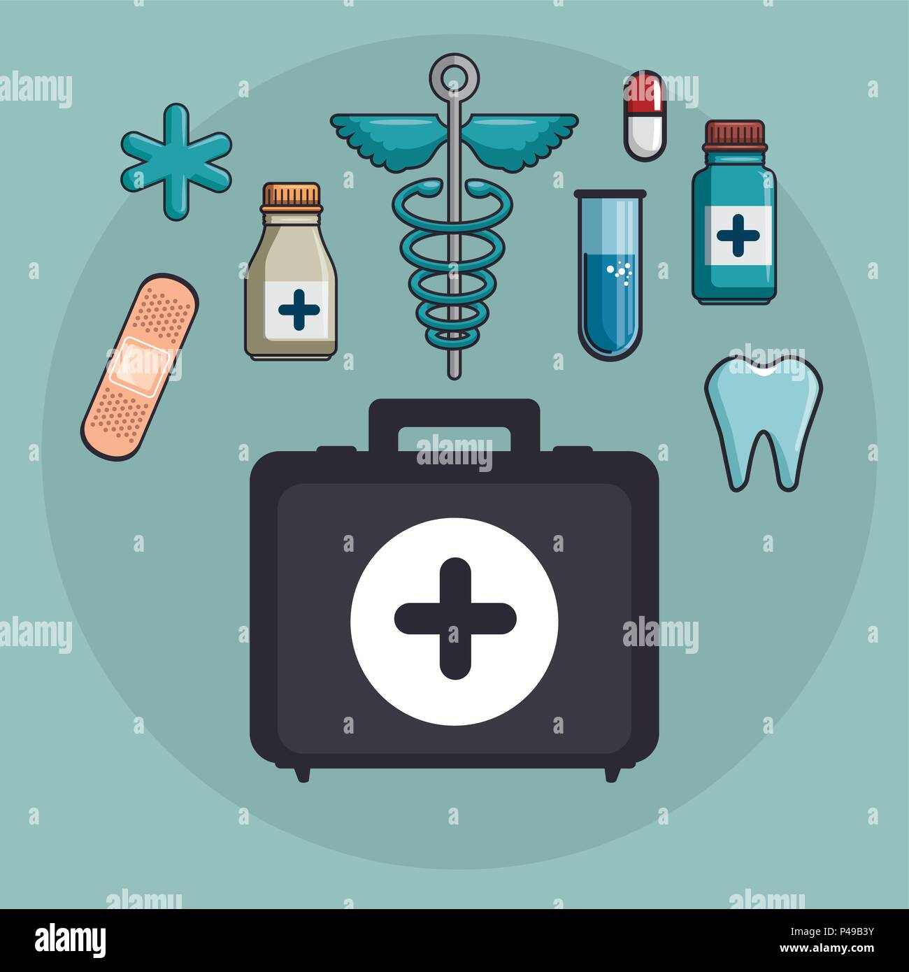 medical healthcare set icons - Stock Image