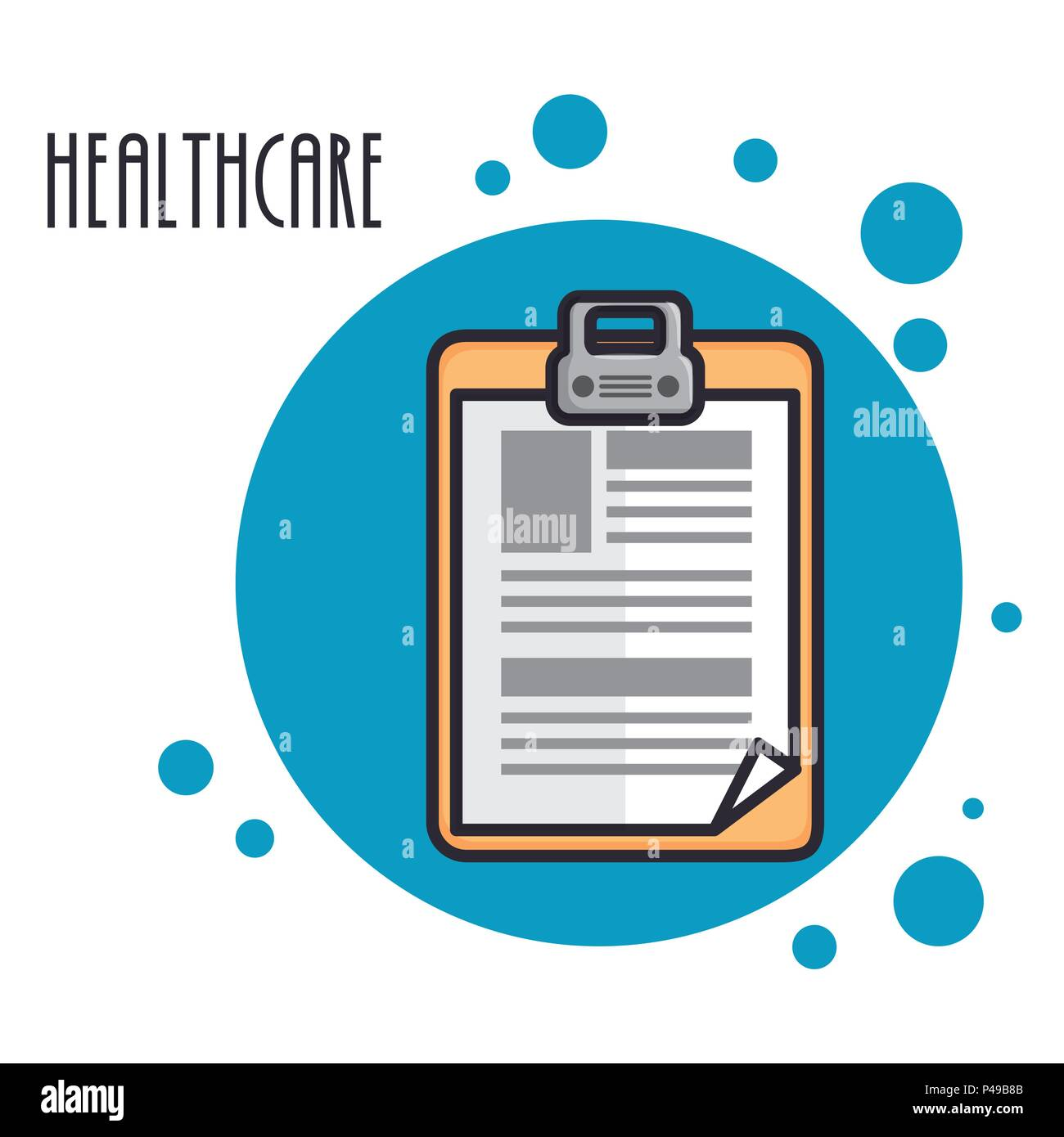 order medical healthcare icon - Stock Image