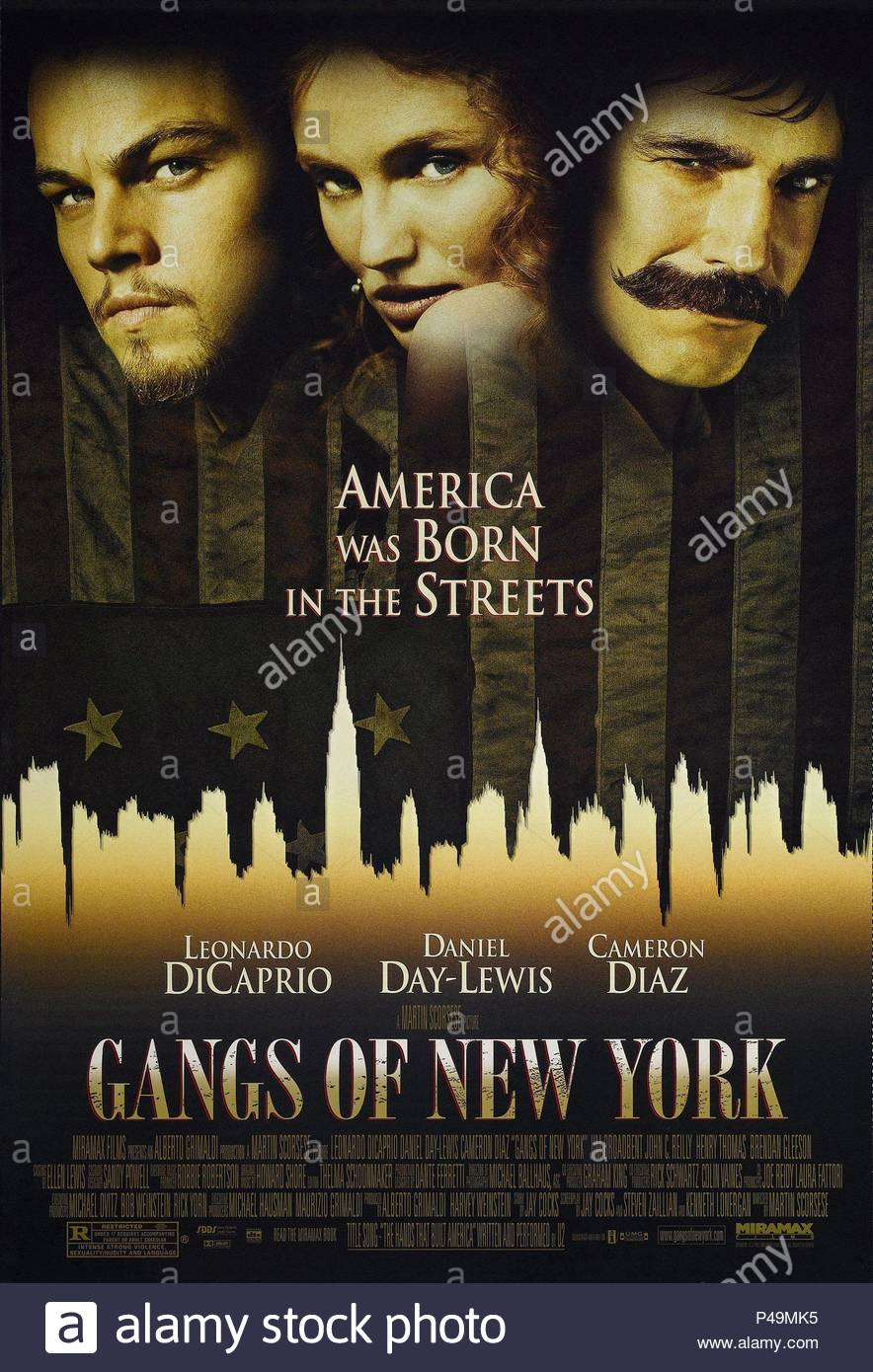 Original Film Title: GANGS OF NEW YORK.  English Title: GANGS OF NEW YORK.  Film Director: MARTIN SCORSESE.  Year: 2002. Credit: MIRAMAX / Album - Stock Image