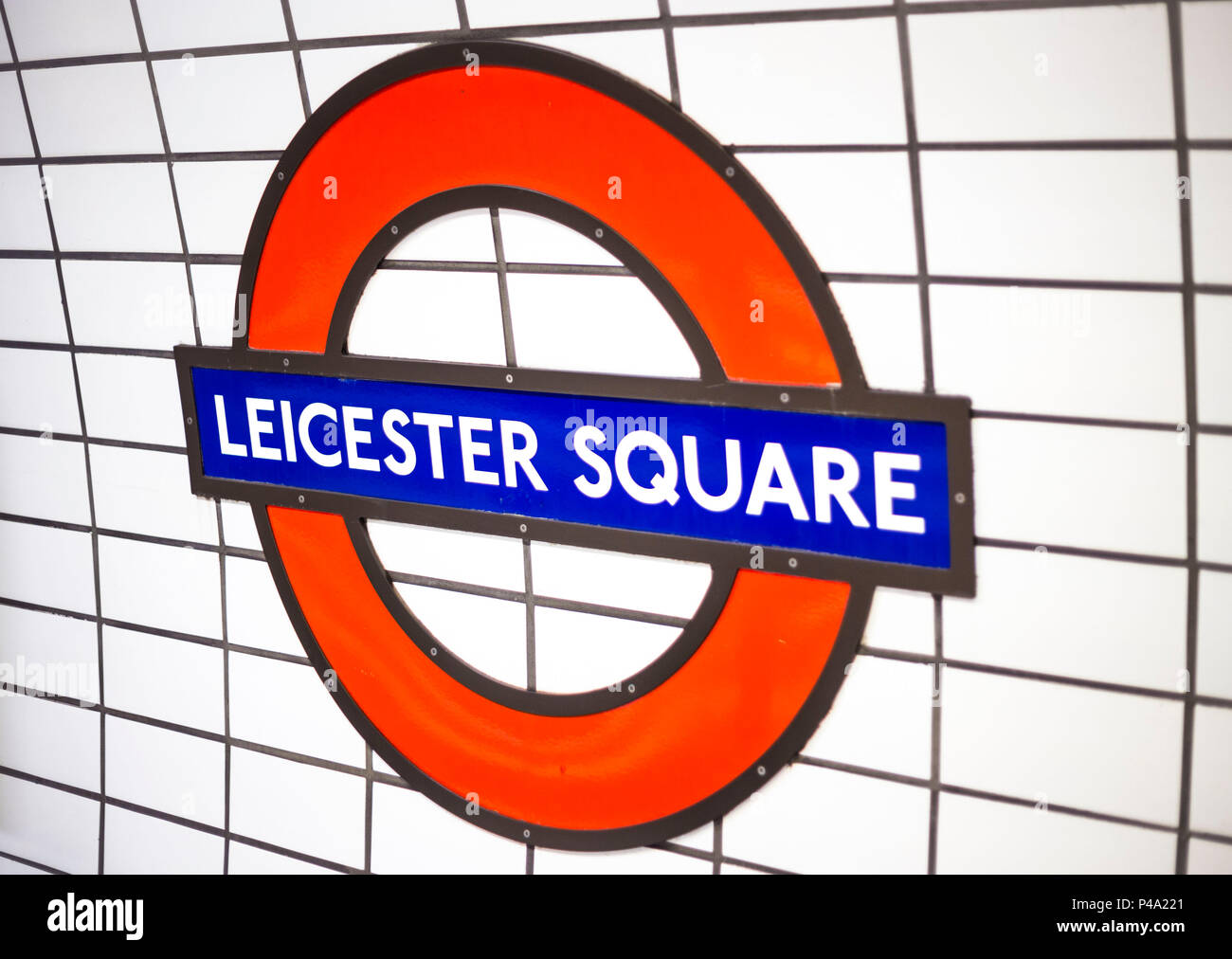 Leicester square tube station, London, United Kingdom. - Stock Image
