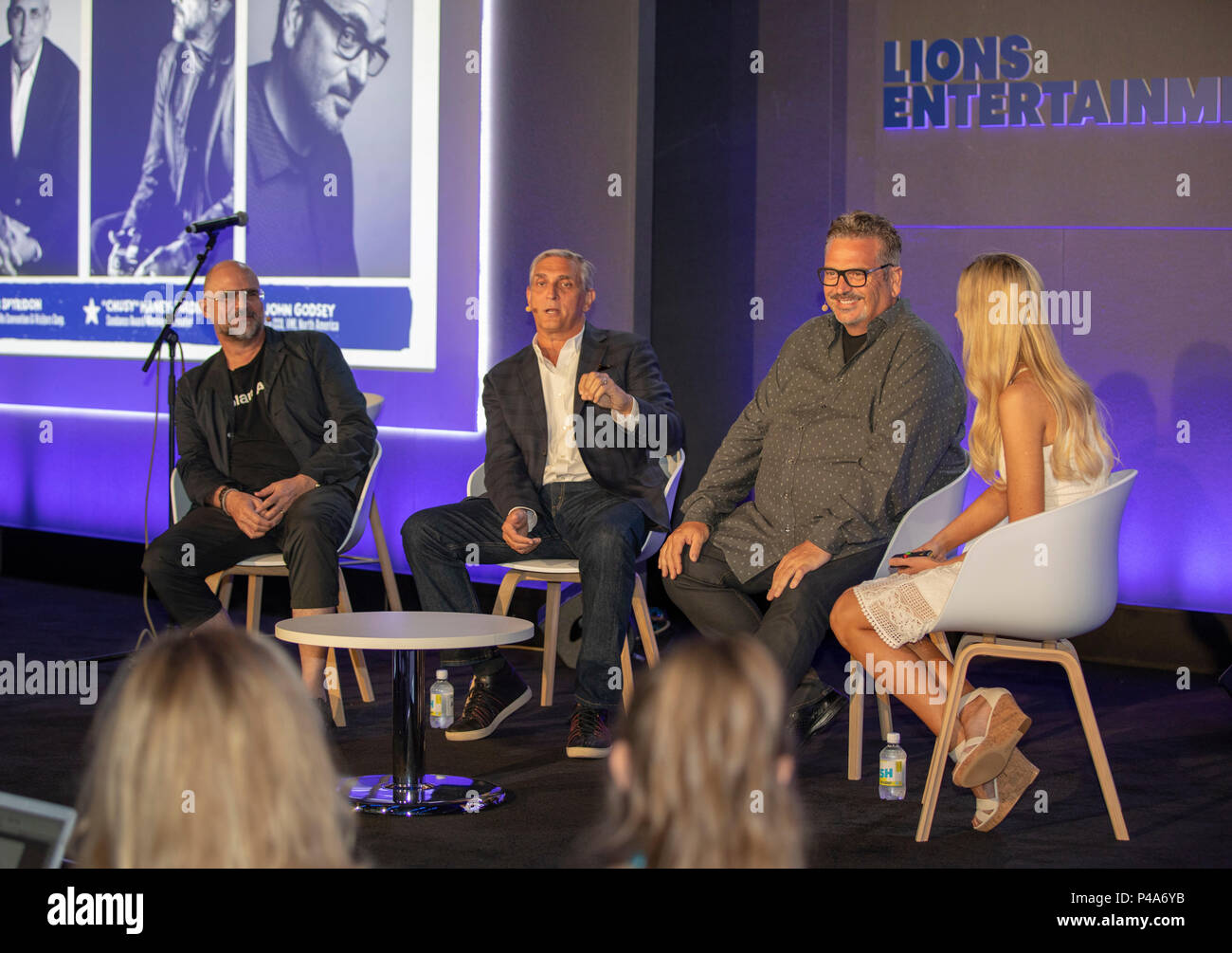 Cannes, France, 21 June 2018, Anthony 'Chusy' Haney-Jardine, Butch Spyridon,John Godsey and Allison Pierce attend - Selling with Soul: Making Authentic Connections Through Story and Song at Cannes Lions Festival - International Festival of Creativity © ifnm / Alamy Live News - Stock Image