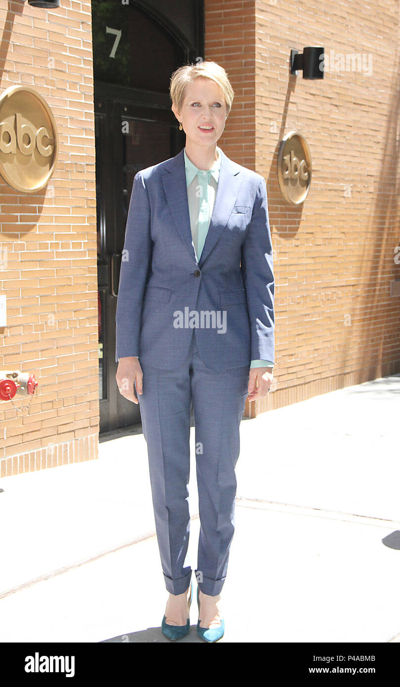 NEW YORK, NY June 21: Cynthia Nixon at the View in New York. June 21, 2018 Credit: RW/MediaPunch - Stock Image