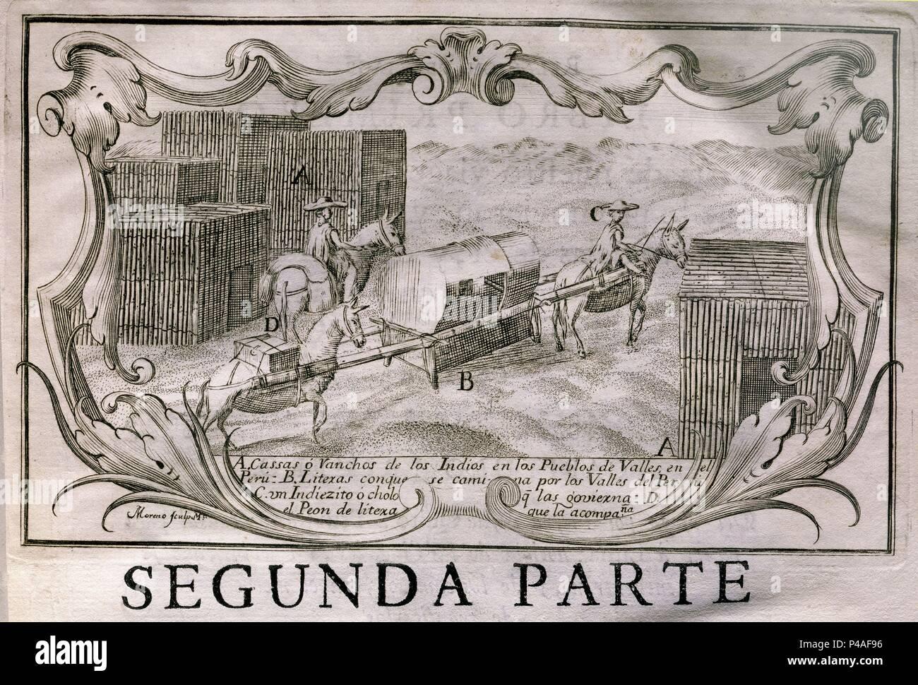 NOTICIAS SECRETAS DE AMERICA (1735-1826) - LAS CASSAS O RANCHOS DE LOS  INDIOS EN LOS PUEBLOS DE VALLES EN PERU - 1748. Author: ULLOA ANTONIO /  JORGE JUAN.