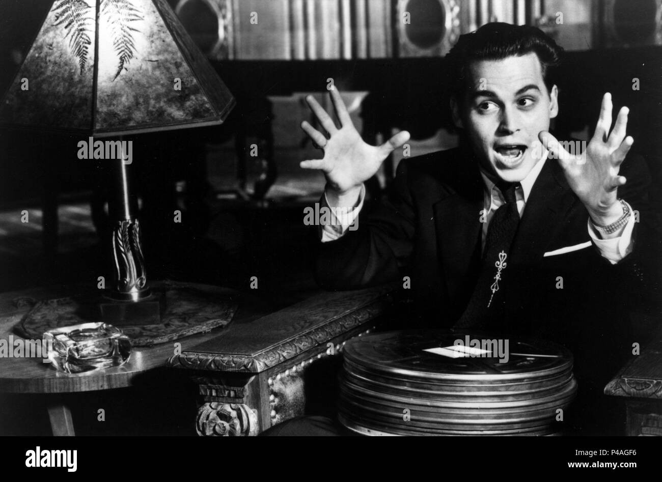 Original Film Title: ED WOOD.  English Title: ED WOOD.  Film Director: TIM BURTON.  Year: 1994.  Stars: JOHNNY DEPP. Credit: TOUCHSTONE PICTURES / Album - Stock Image
