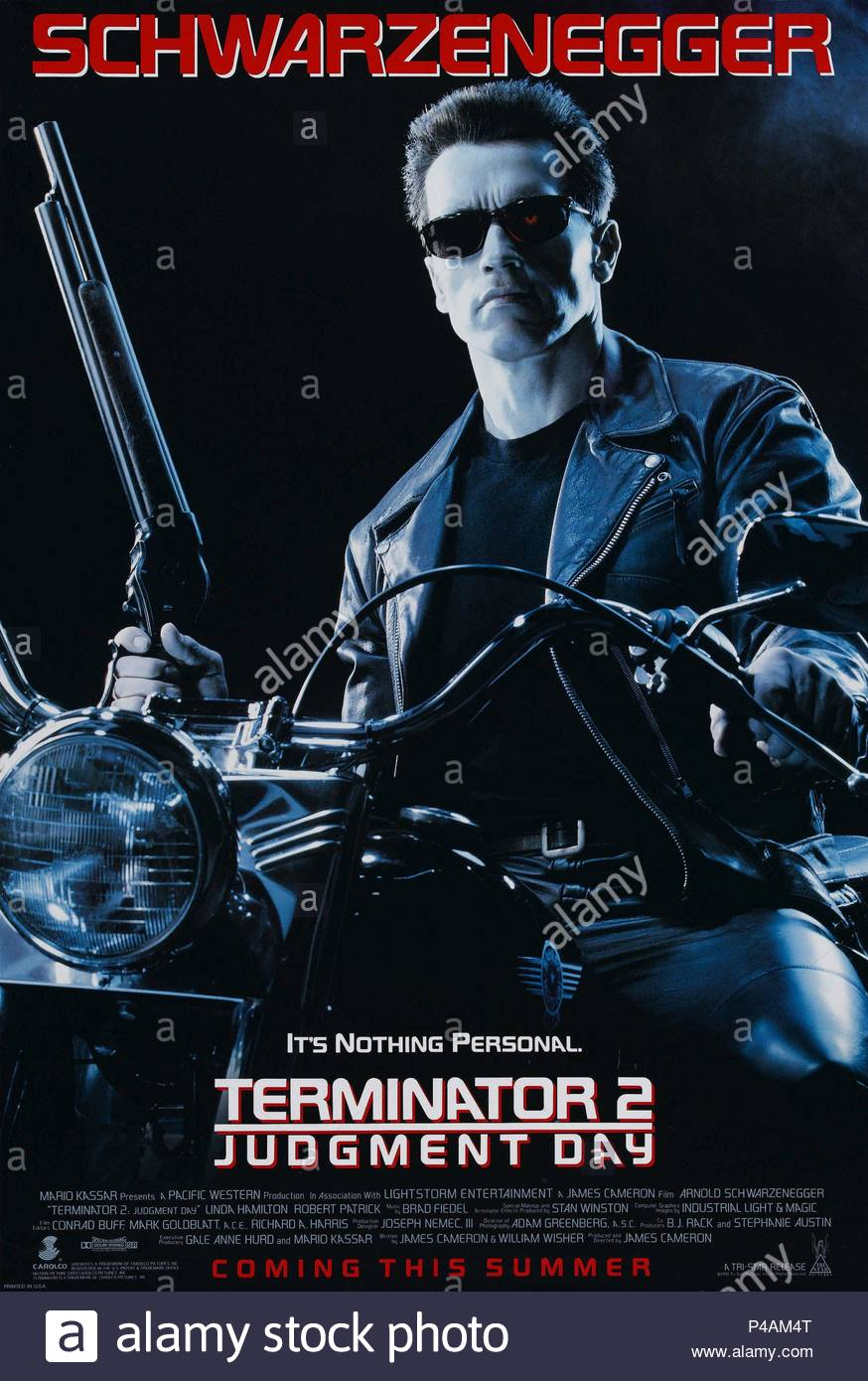 Original Film Title: TERMINATOR 2: JUDGEMENT DAY.  English Title: TERMINATOR 2: JUDGEMENT DAY.  Film Director: JAMES CAMERON.  Year: 1991. Credit: CAROLCO / Album - Stock Image