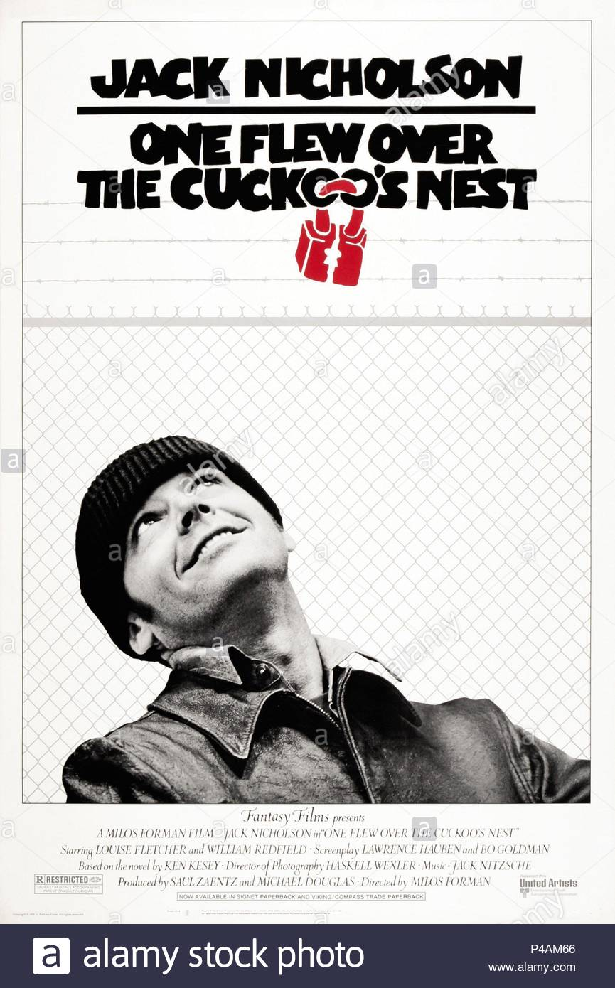 Original Film Title: ONE FLEW OVER THE CUCKOO'S NEST.  English Title: ONE FLEW OVER THE CUCKOO'S NEST.  Film Director: MILOS FORMAN.  Year: 1975. Credit: UNITED ARTISTS / Album - Stock Image