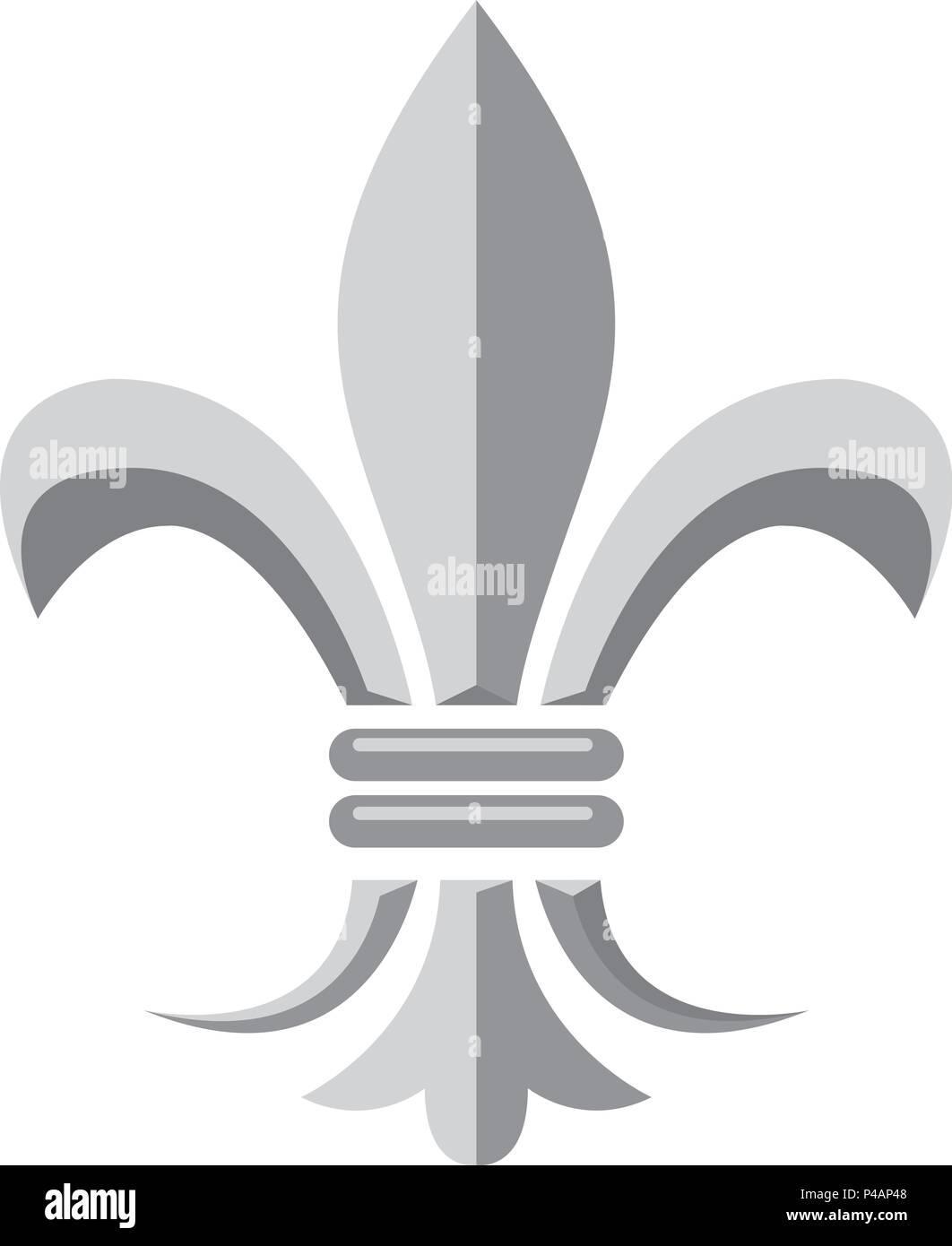 Fleur De Lis Heraldic Symbol Of French Royal Monarchy Stock Vector
