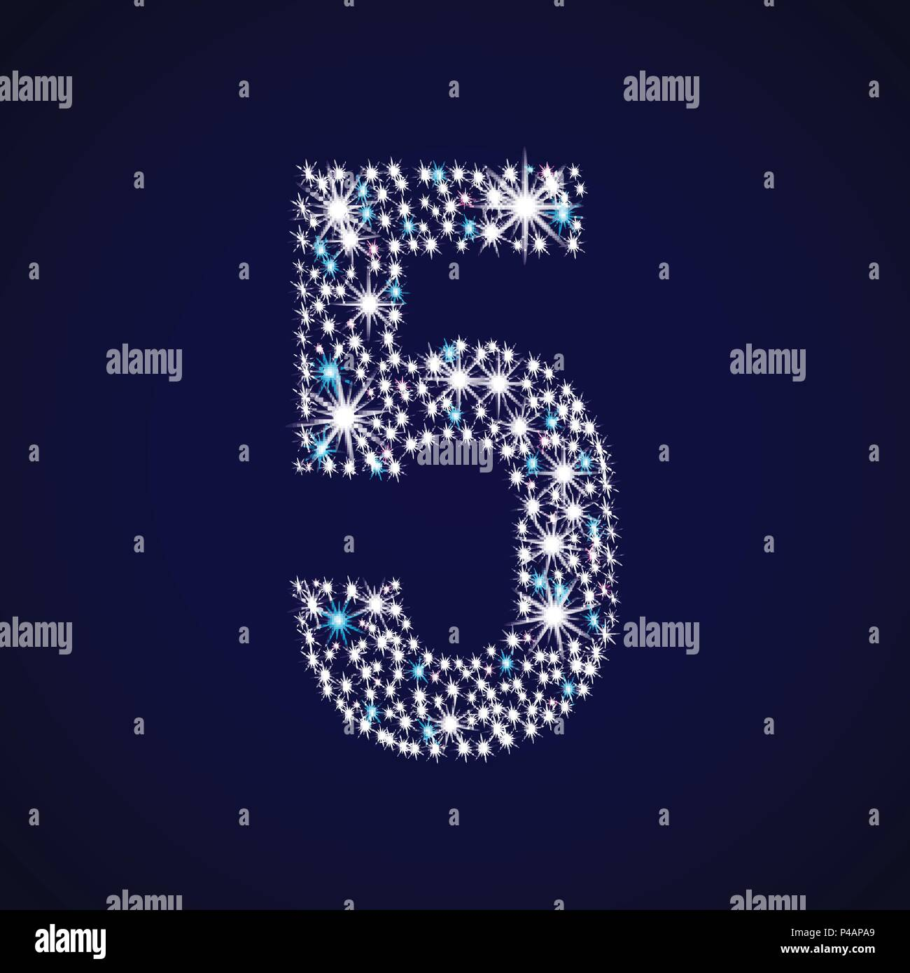 Number five - Stock Image
