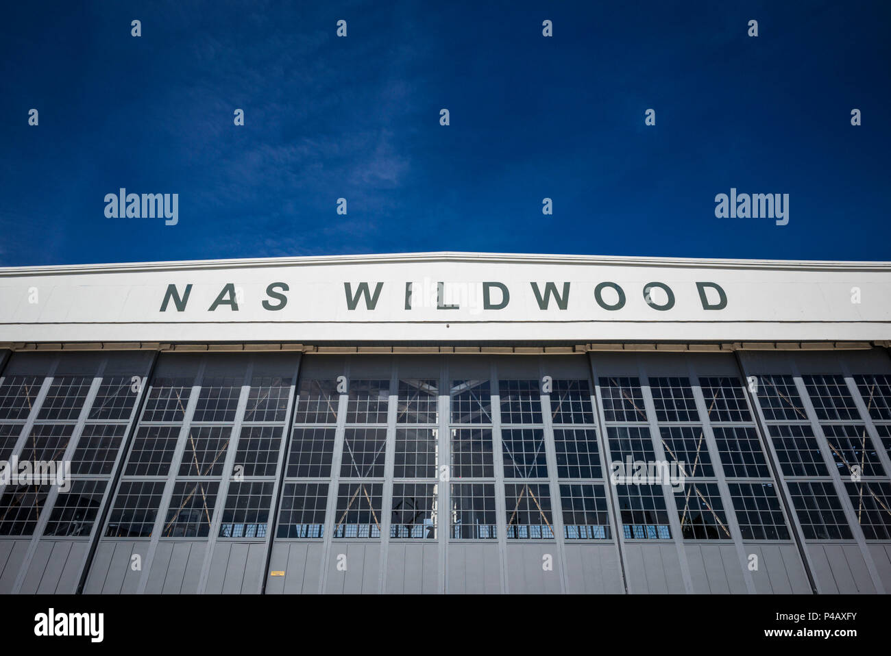 USA, New Jersey, Rio Grande, Naval Air Station Wildwood Aviation Museum, exterior - Stock Image