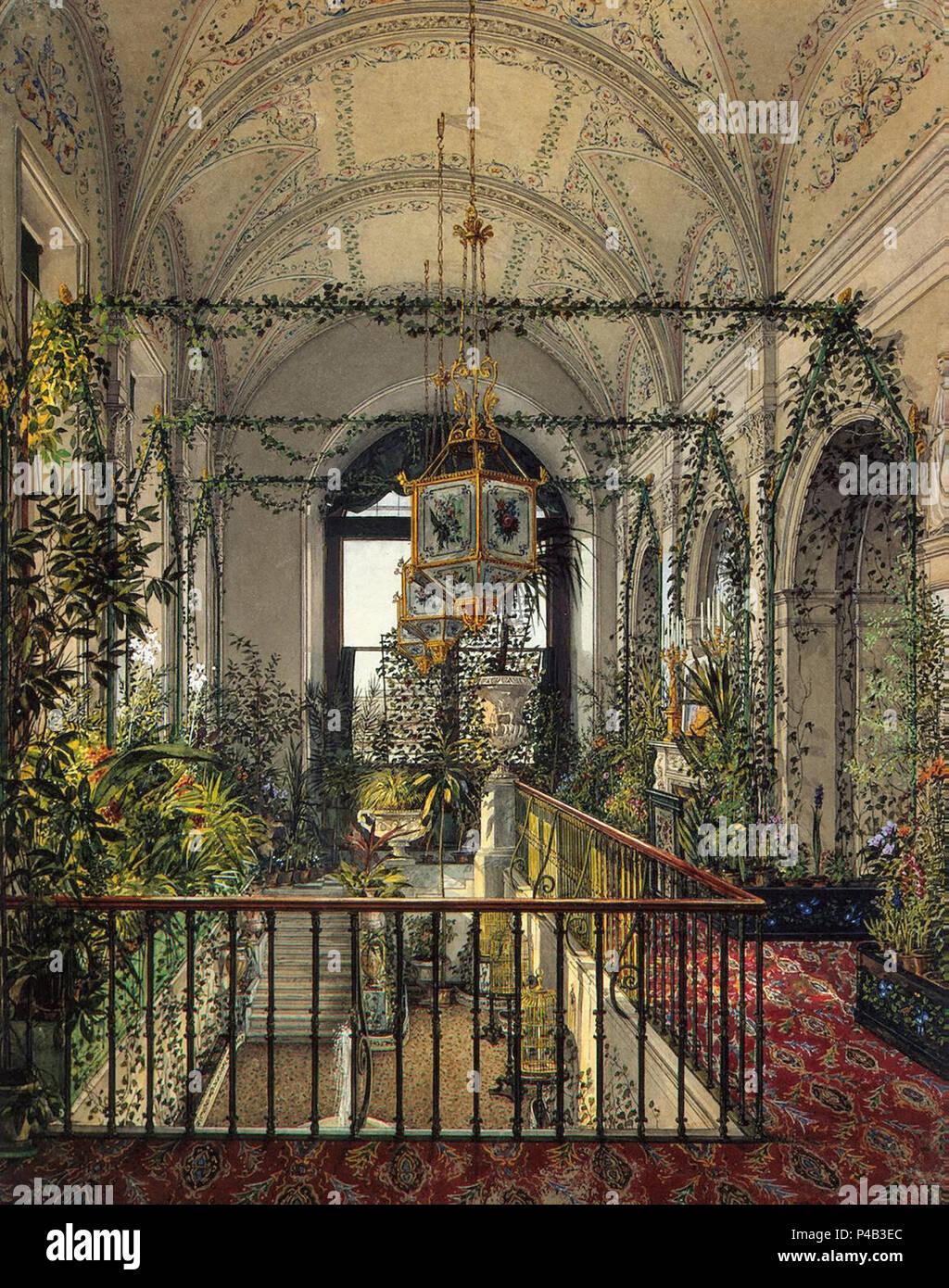 Ukhtomsky Konstantin Andreyevich - Interiors of the Winter Palace ...