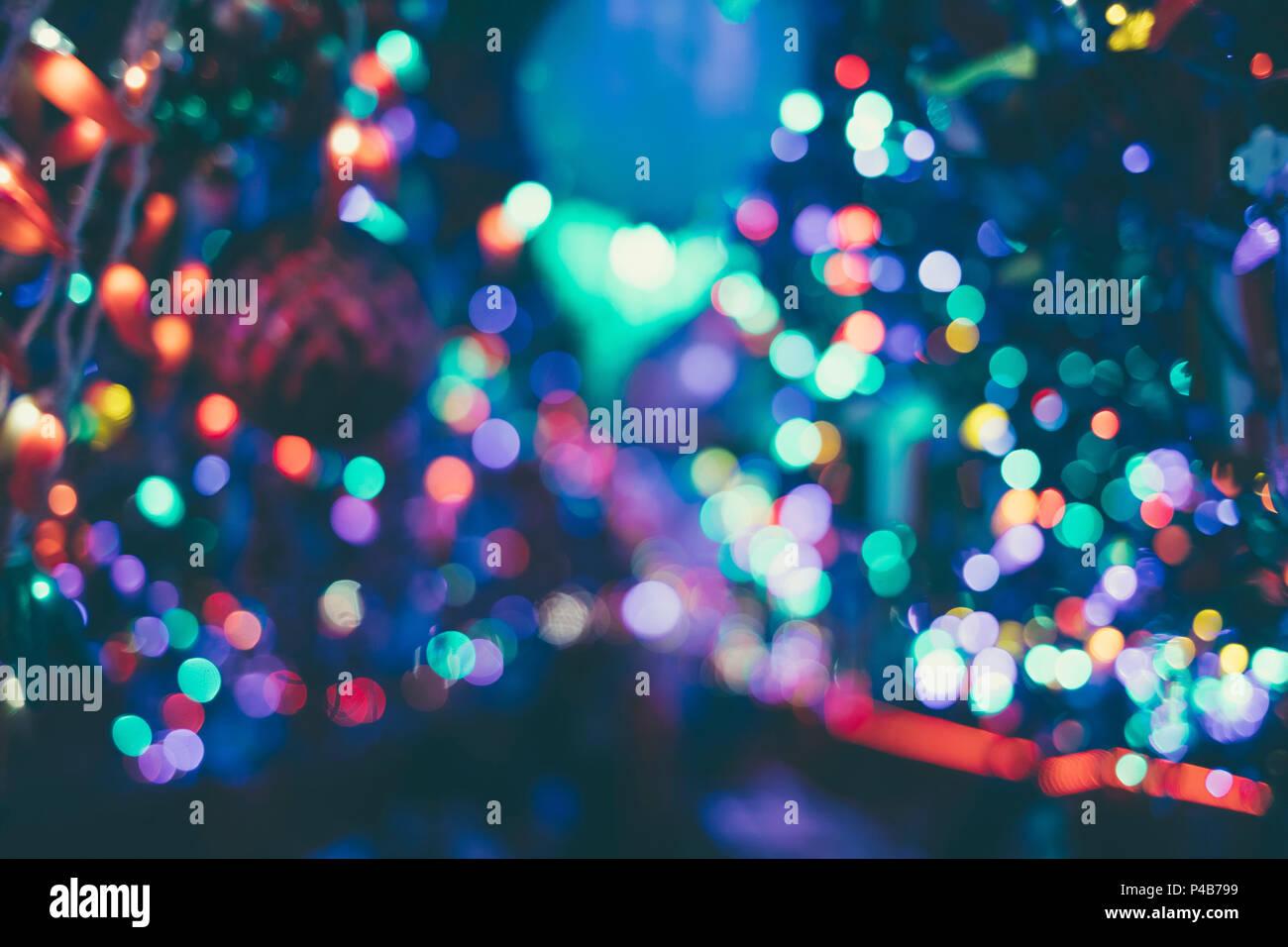 blurry christmas lights