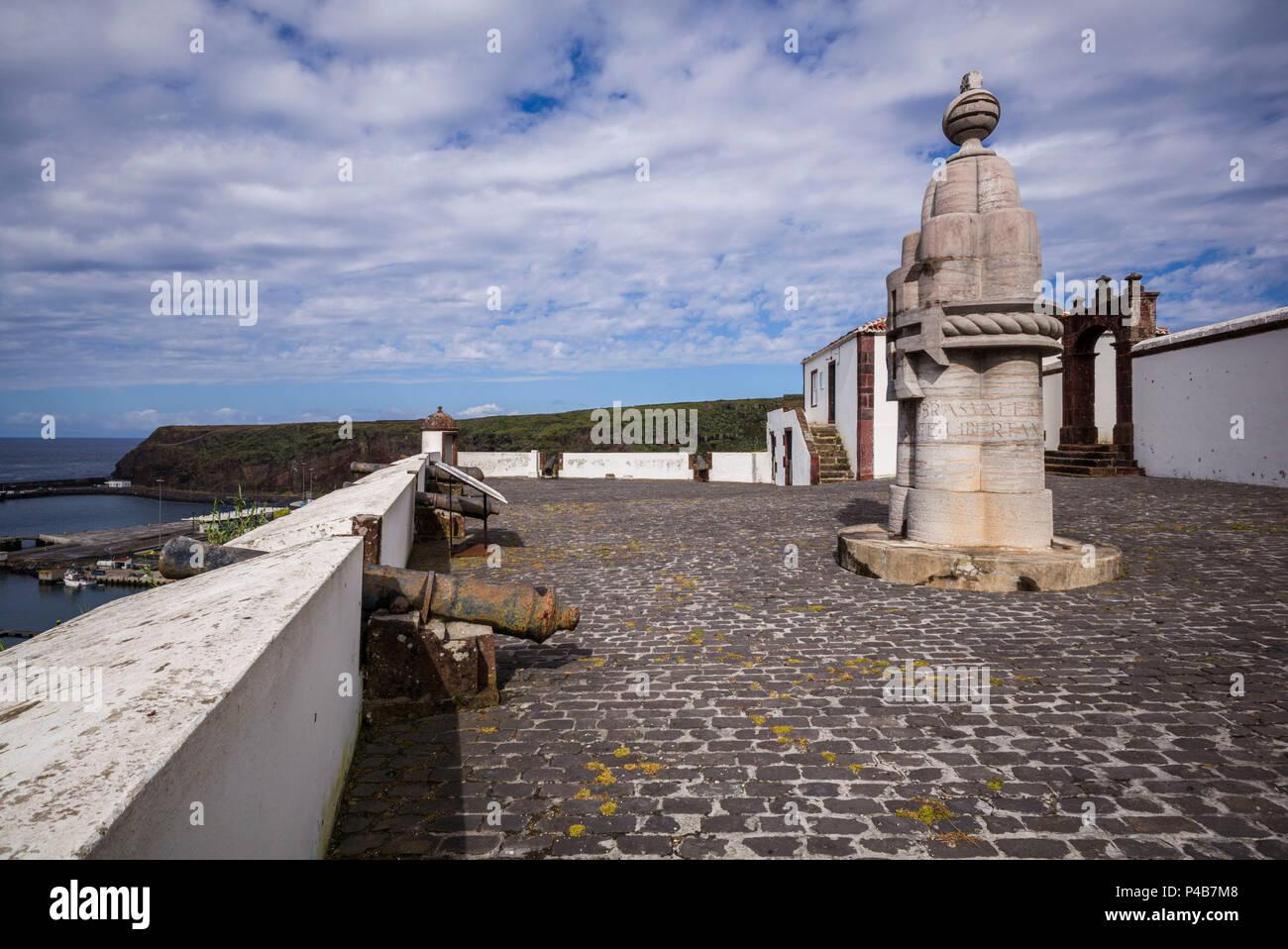 Portugal, Azores, Santa Maria Island, Vila do Porto, Forte de Sao Bras fort - Stock Image