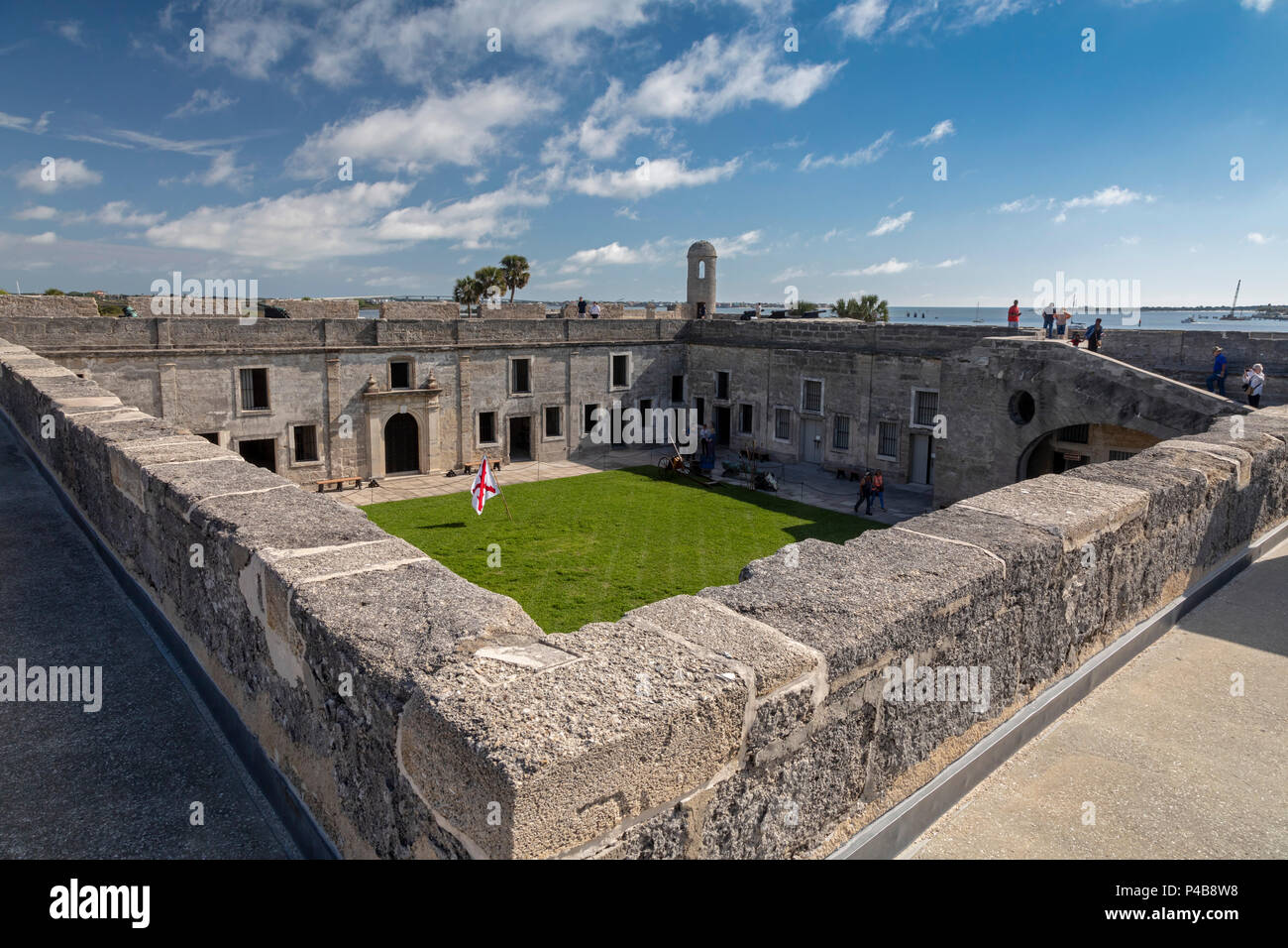 St. Augustine, Florida - Castillo de San Marcos National Monument. The Spanish built the fort in the late 17th century. It was later occupied by Briti - Stock Image