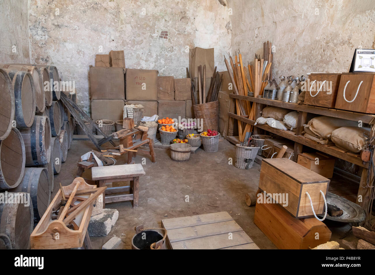 St. Augustine, Florida   A Storage Room At Castillo De San Marcos. The  Spanish Built The Fort, Now A National Monument, In The Late 17th Century.  It W