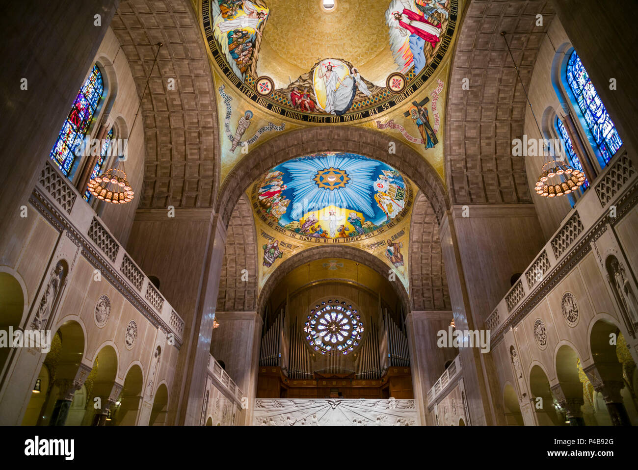 USA, District of Columbia, Washington, Basilica of the National Shrine of the Immaculate Conception, interior Stock Photo