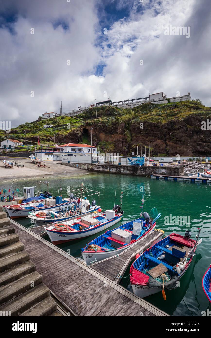 Portugal, Azores, Santa Maria Island, Vila do Porto, port Stock Photo