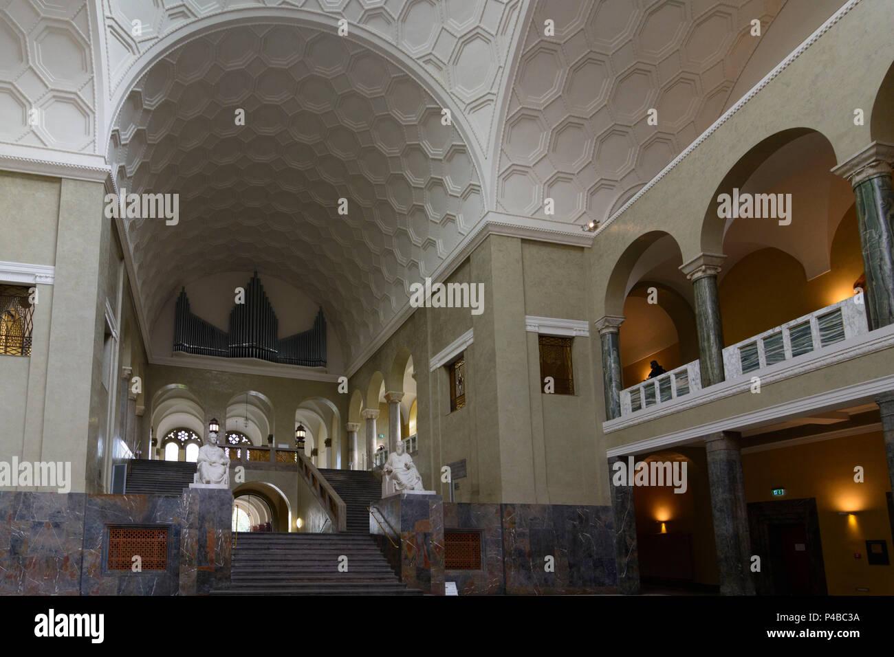 München, Munich, Ludwig-Maximilians-Universität (University), stairwell, Upper Bavaria, Bavaria, Germany - Stock Image