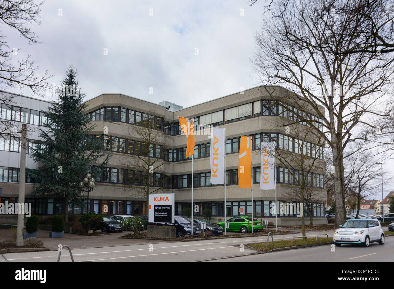 Augsburg, company Kuka reception for KUKA Industries, KUKA Systems, Swabia, Bavaria, Germany - Stock Image