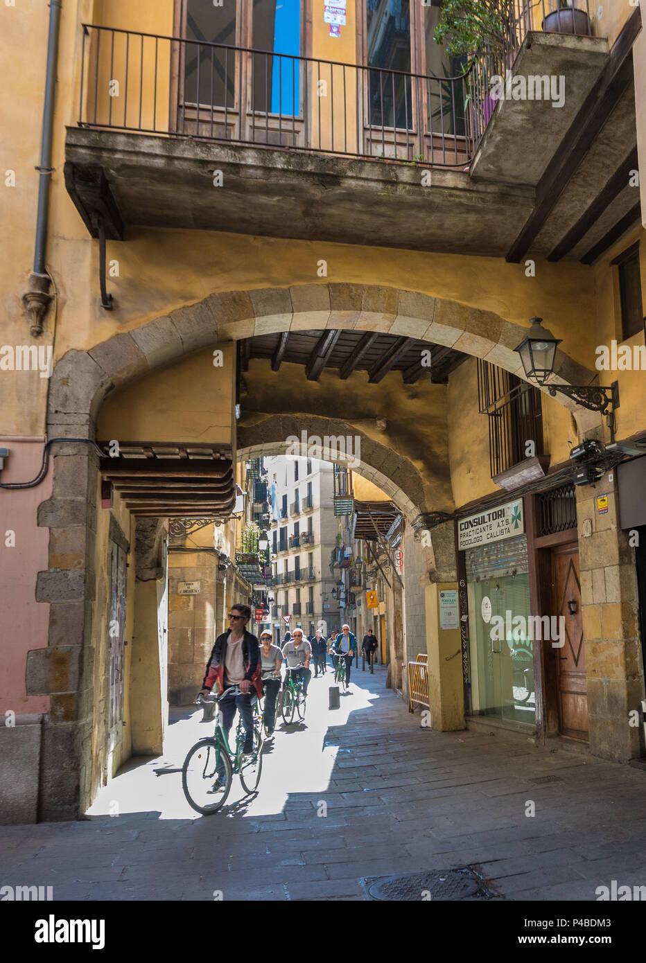 Spain, Barcelona city, ciutat vella, el rabal area, - Stock Image