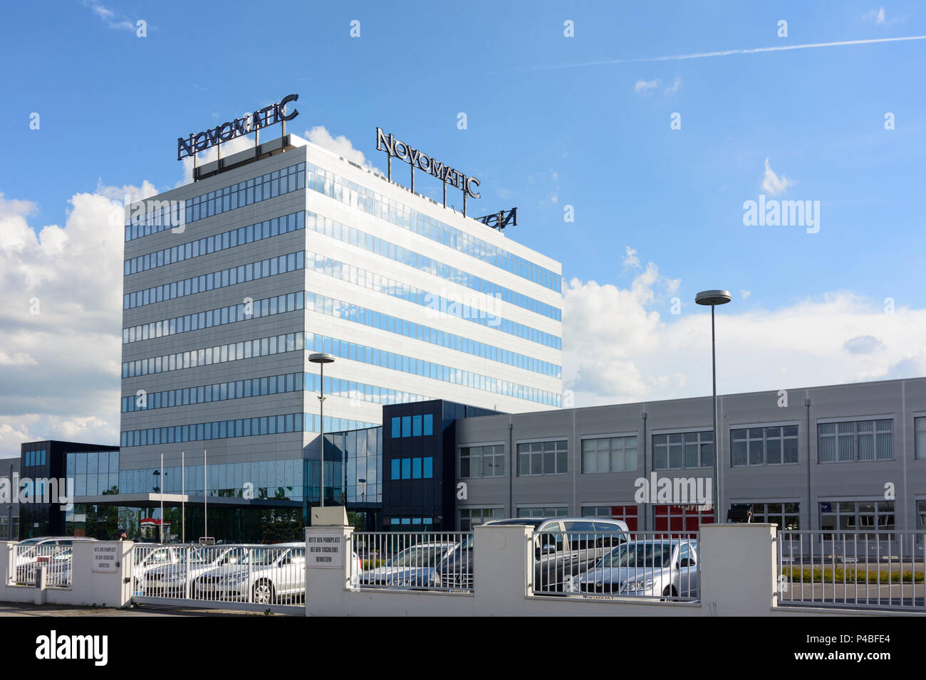 Gumpoldskirchen, Novomatic Austrian Gaming Industries headquarters, Wienerwald, Vienna Woods, Lower Austria, Austria - Stock Image