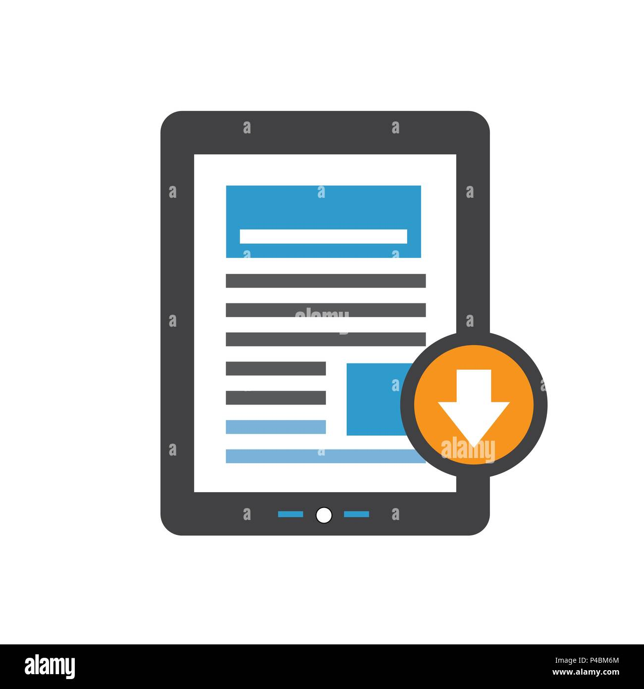 Whitepaper or Ebook CTA w Cover and Download Button for Free Digital Download - Call for Marketing Action - Stock Image