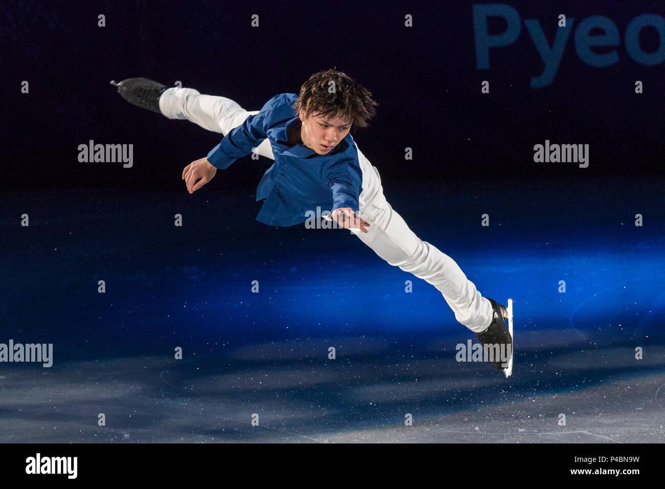 Shoma Uno (JPN) performing at the Figure Skating Gala Exhibition at the Olympic Winter Games PyeongChang 2018 Stock Photo