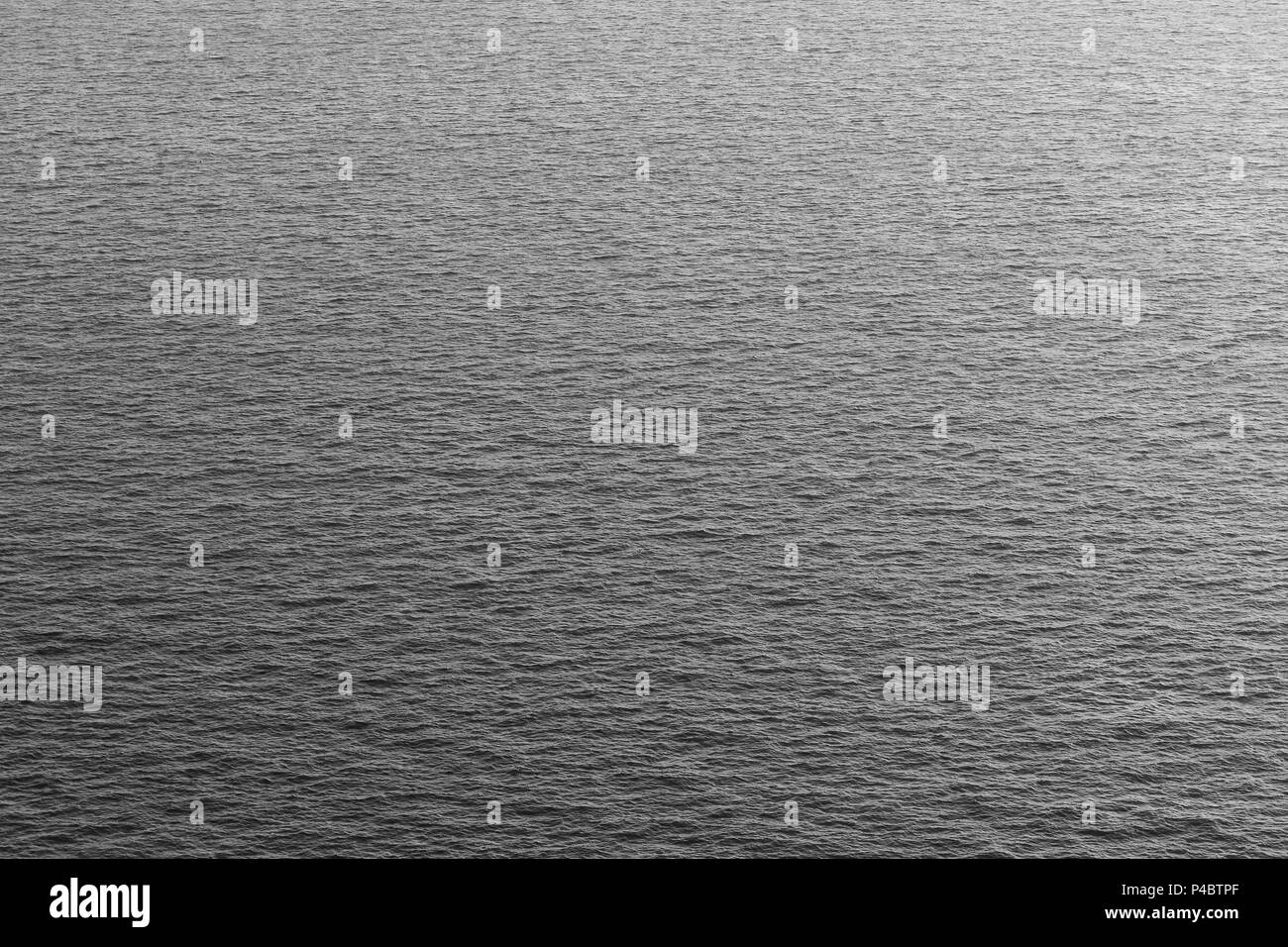 Water in the sea background, black and white color. Stock Photo