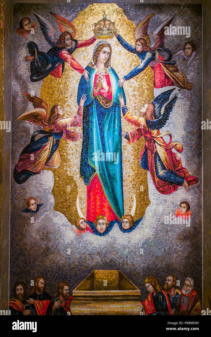 USA, District of Columbia, Washington, Basilica of the National Shrine of the Immaculate Conception, Virgin Mary mosaic Stock Photo