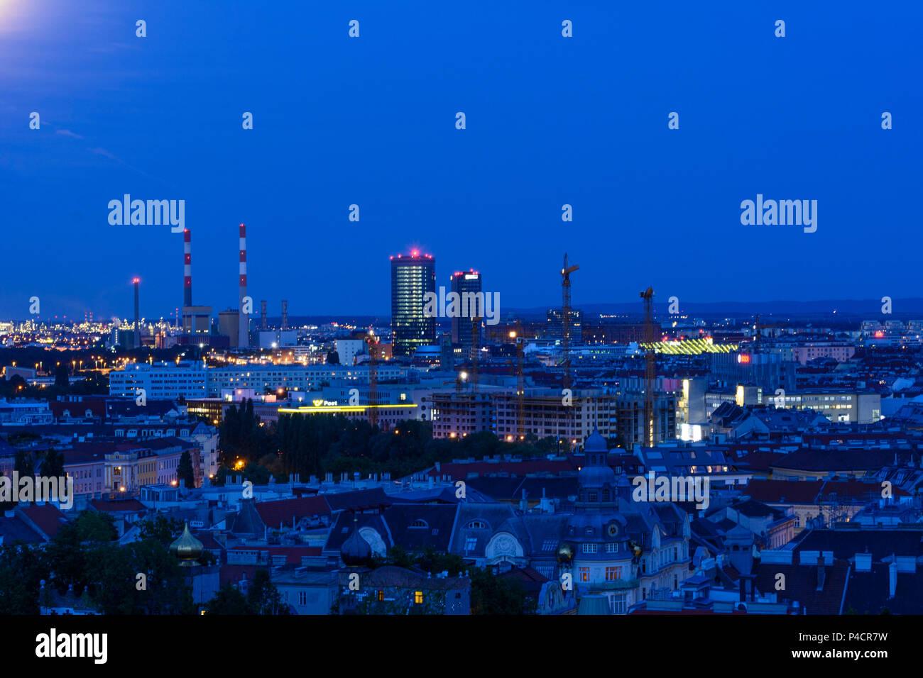 Vienna, Simmering power station, Wiener Stadtwerke headquarters, (Vienna municipal utilities), Orbi Tower, 11. Simmering, Wien, Austria - Stock Image