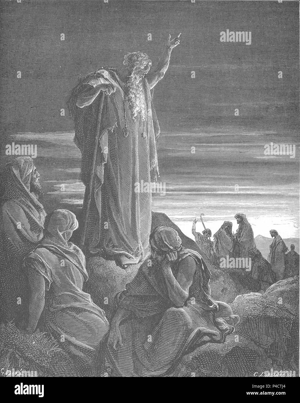 126.The Prophet Ezekiel. - Stock Image