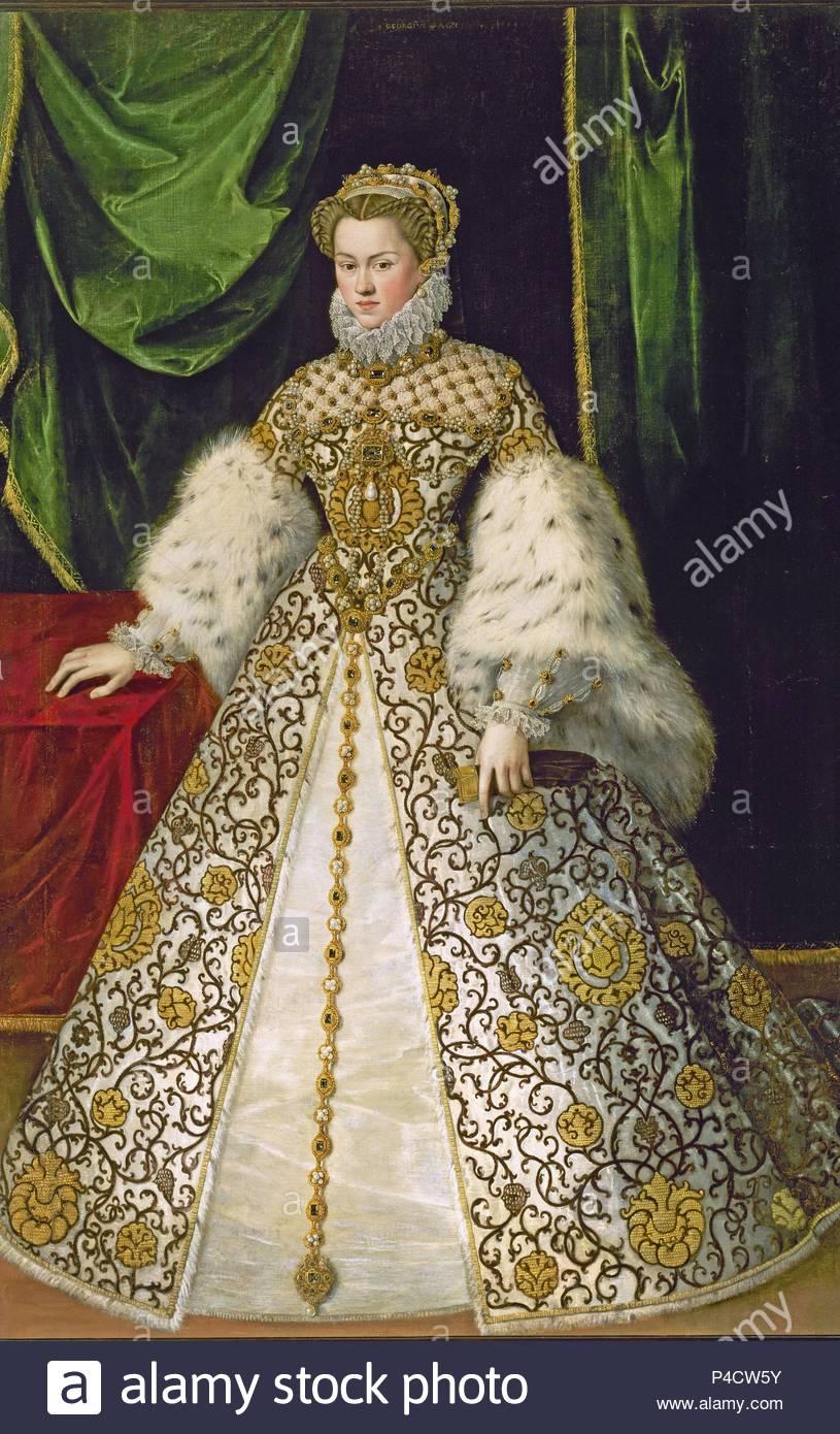 ISABEL DE AUSTRIA - (1501-1573) -  181X125 CM. Author: Jooris van der Straaten (fl. 1552-1577). Location: DESCALZAS REALES-COLECCION, MADRID, SPAIN. - Stock Image
