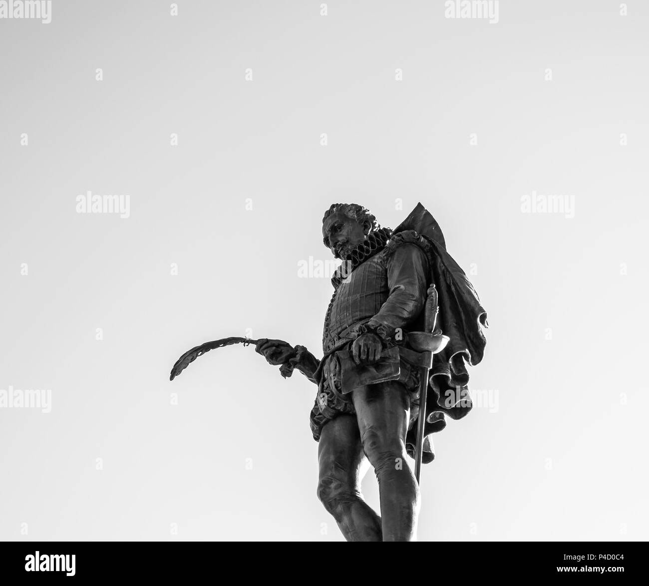 Estatua de Cervantes. Alcalá de Henares. Madrid. España - Stock Image