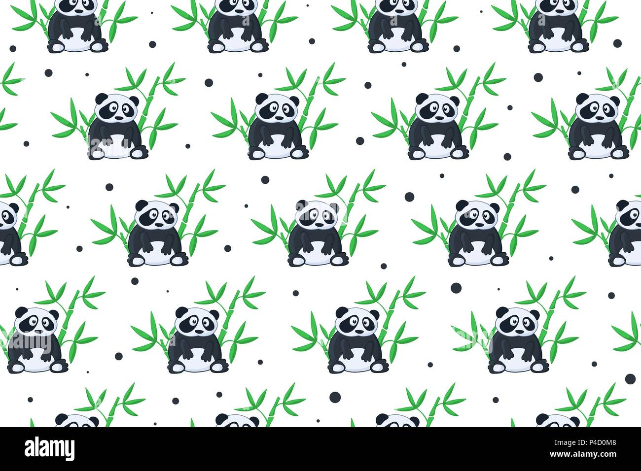 cartoon animals pattern - Stock Image