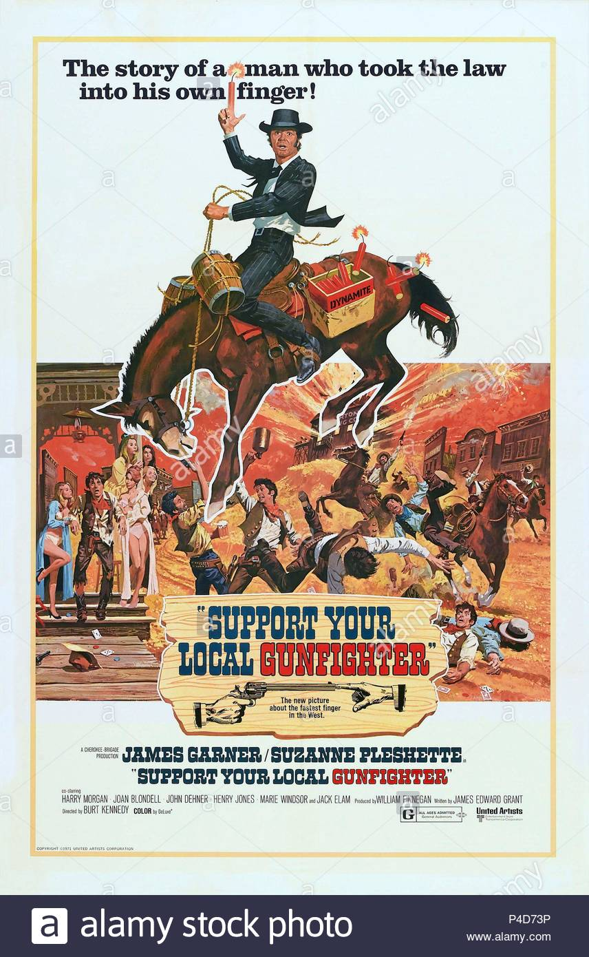 Original Film Title: SUPPORT YOUR LOCAL SHERIFF!.  English Title: SUPPORT YOUR LOCAL SHERIFF!.  Film Director: BURT KENNEDY.  Year: 1969. Credit: UNITED ARTISTS / Album - Stock Image