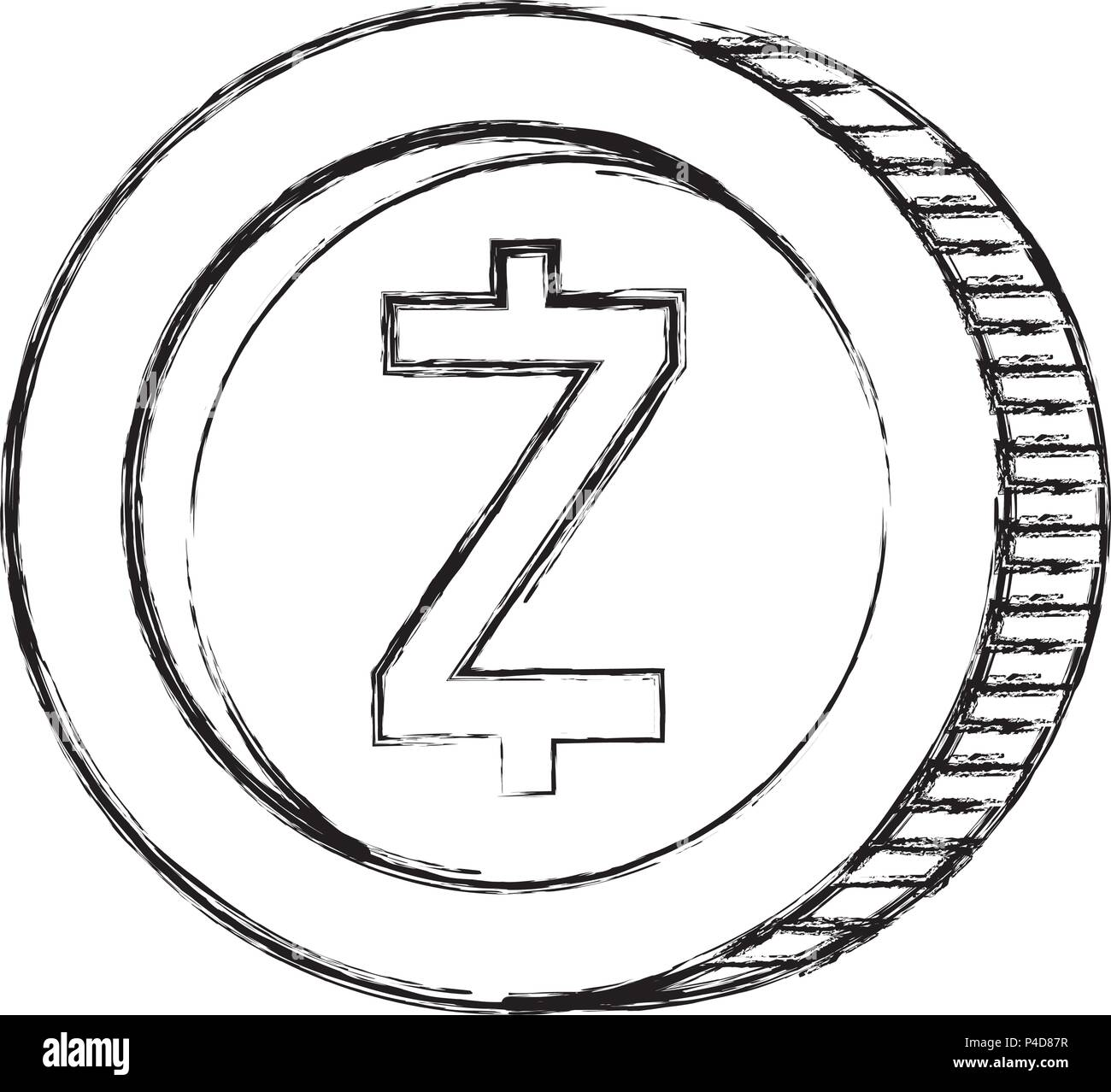 Cryptocurrency Zcash Coin Isolated Icon