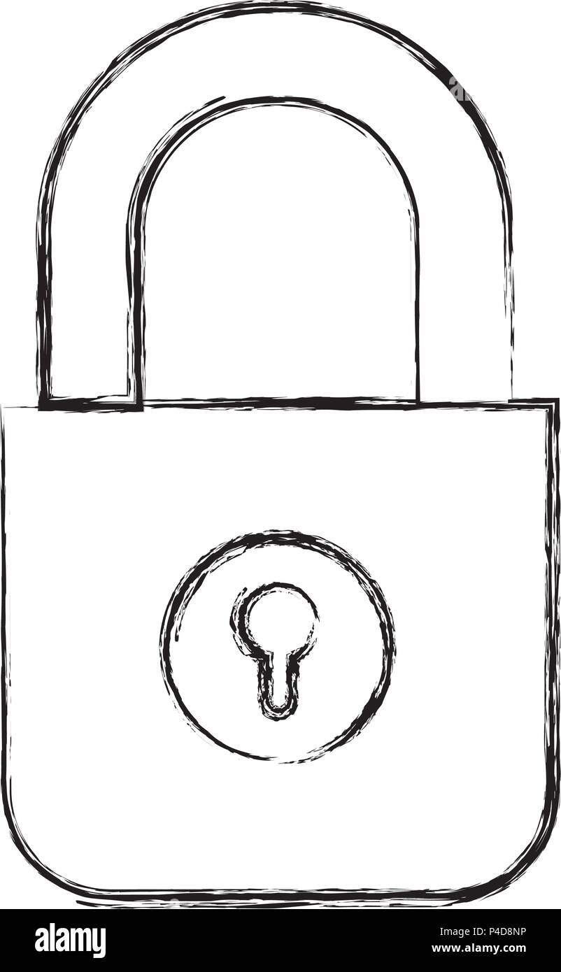 safe secure padlock icon - Stock Vector
