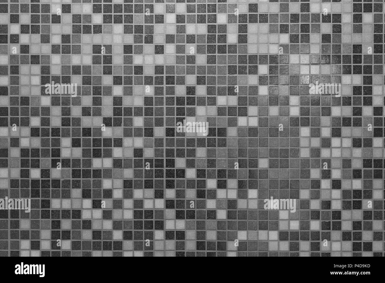 Modern mosaic tile wall background black and white tile wall texture