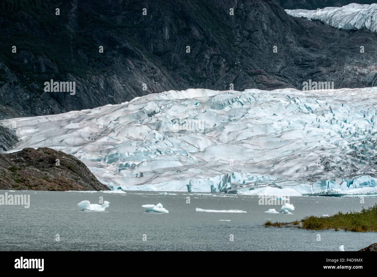 Mendenhall glacier mountain nature outdoors Alaska ice glacial - Stock Image