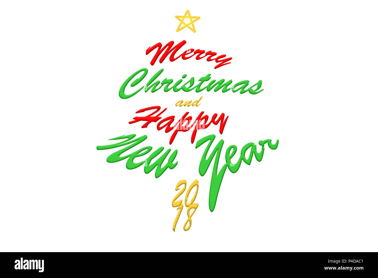 2018 merry christmas and happy new year text calligraphic lettering design card template creative typography for holiday greeting gift poster calli