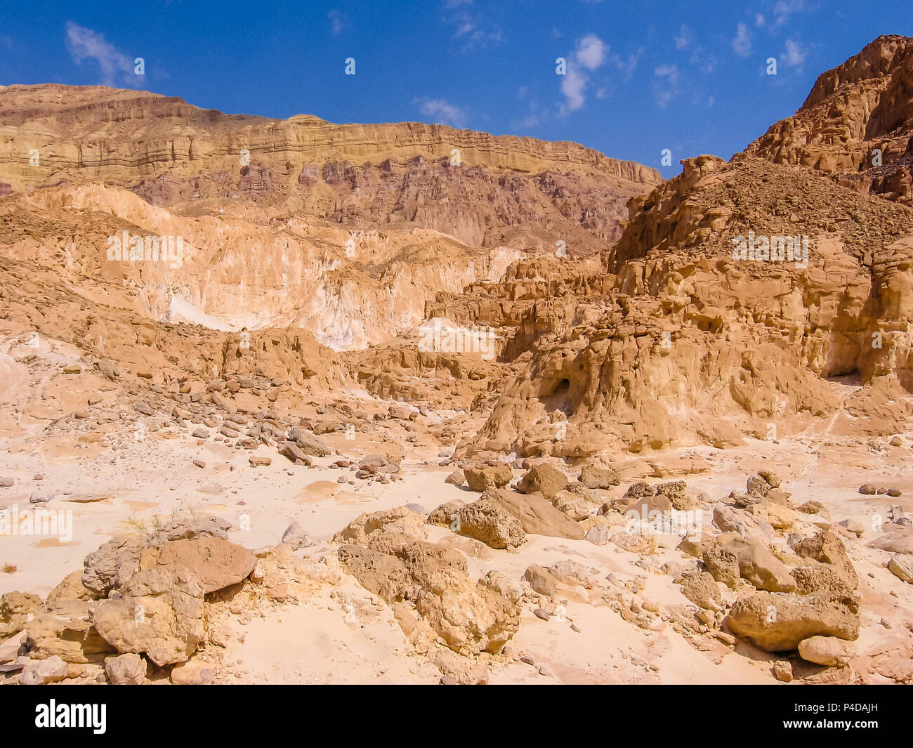 Aerial view of spectacular gorge of Colored Canyon, near Mount Sinai and Nuweiba, Sinai Peninsula in Egypt. - Stock Image