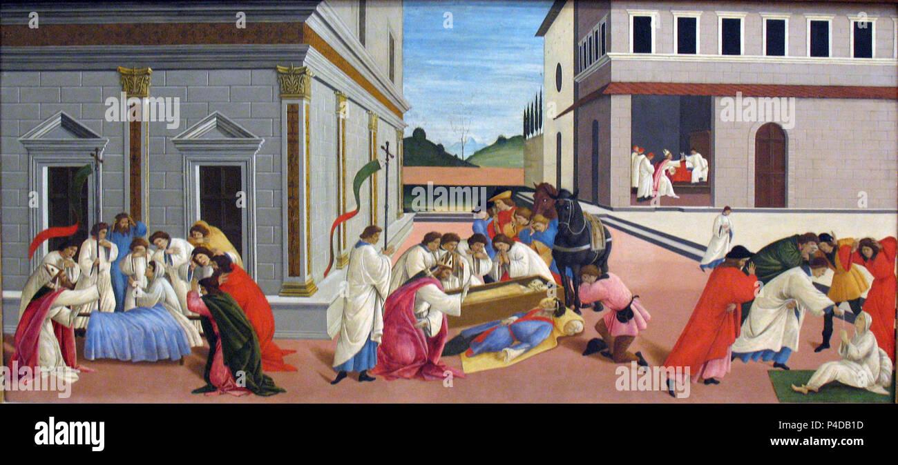 1506 Botticelli Drei Wunder des Heiligen Zenobius anagoria. - Stock Image
