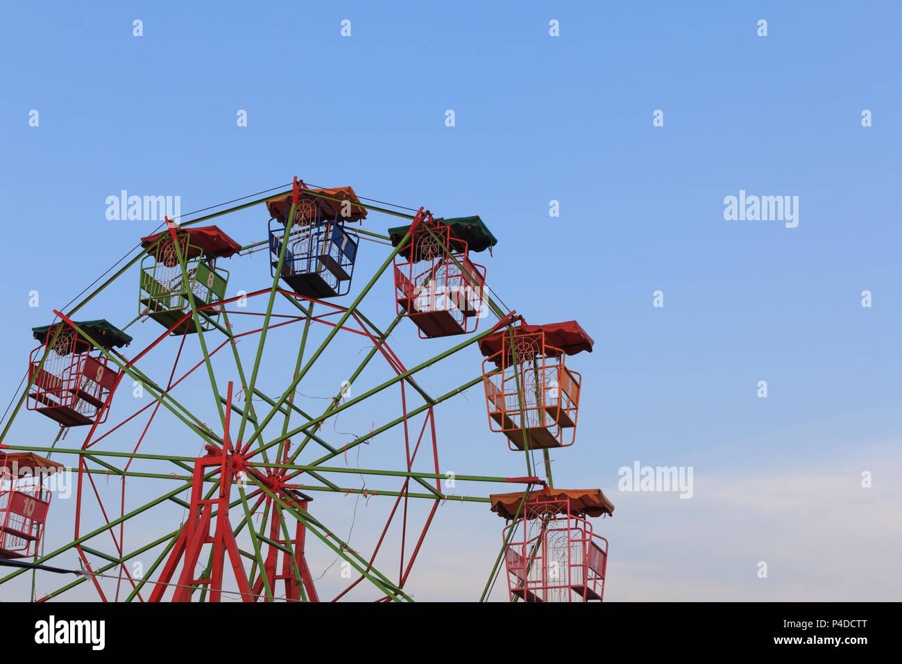 Silhouette Isolated On Blue Sky Stock Photos Ferris Wiring Diagram Vintage Background At Carnival Park Image