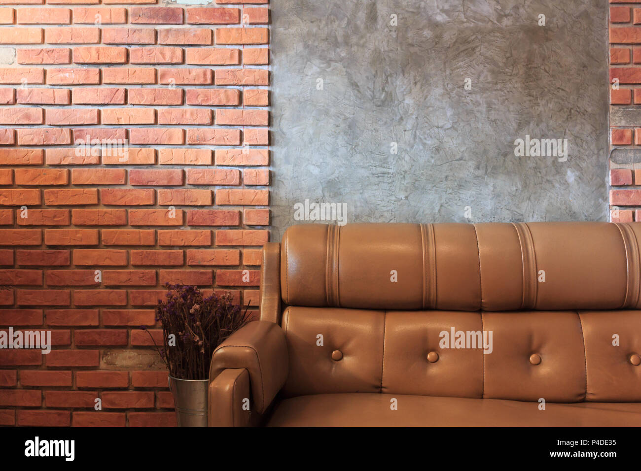 vintage room with sofa set brick wall background in the cafe stock photo alamy https www alamy com vintage room with sofa set brick wall background in the cafe image209279481 html
