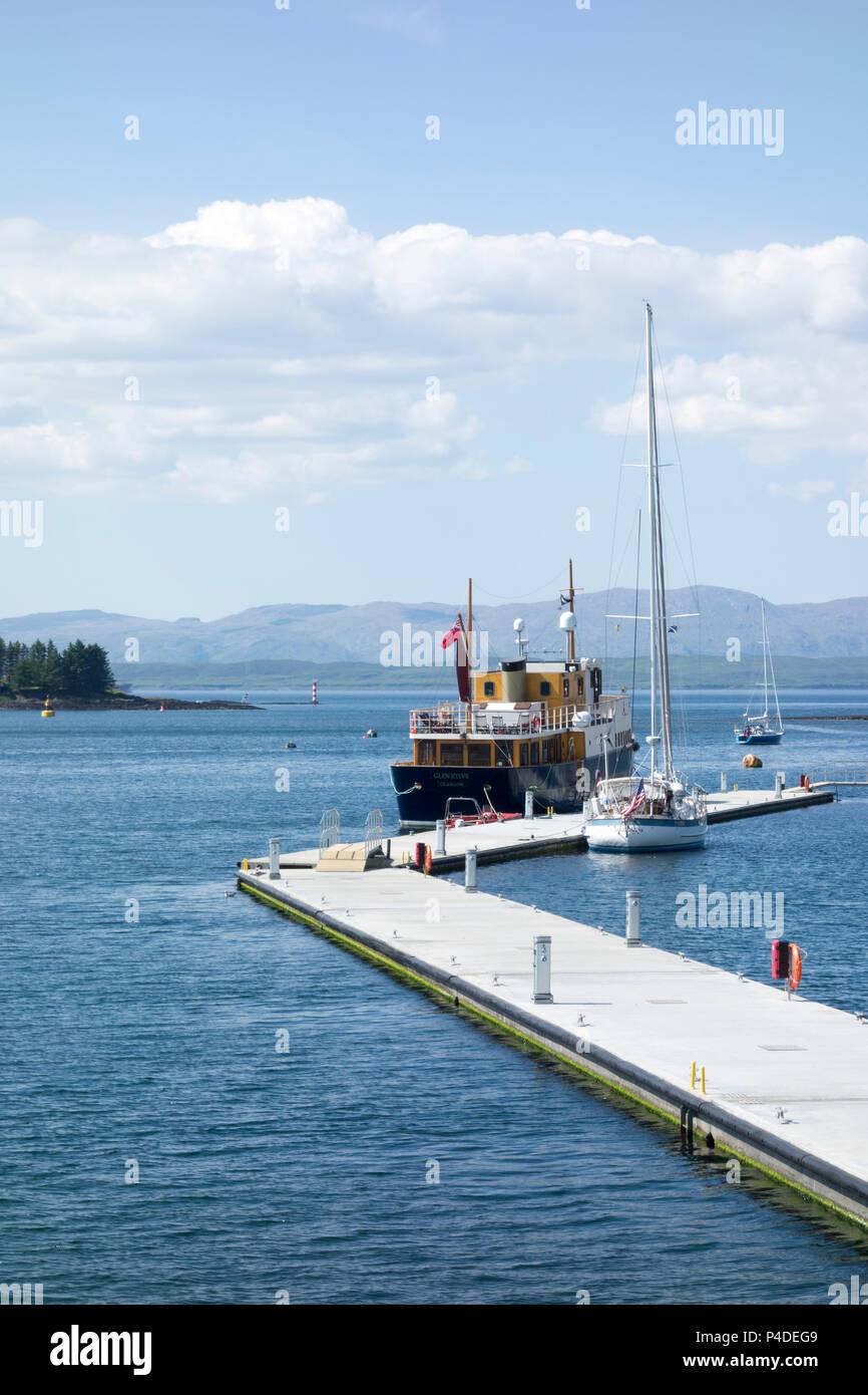 The Glen Etive Passenger Vessel docked at  Oban Marina, Scotland, United Kingdom - Stock Image