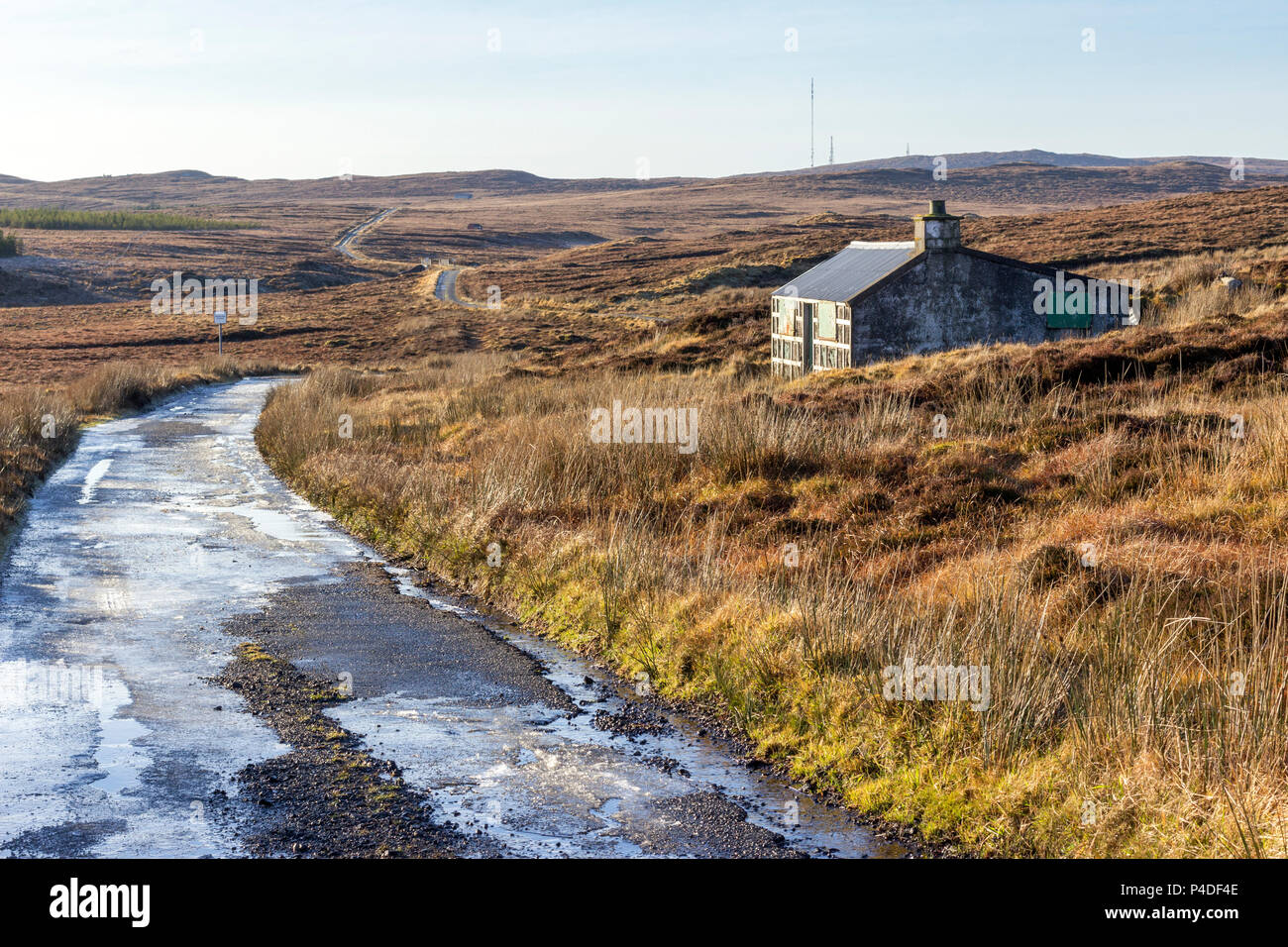 Old Sheiling on the Achmore Road, Isle of Lewis, Western Isles, Outer Hebrides, Scotland, United Kingdom - Stock Image