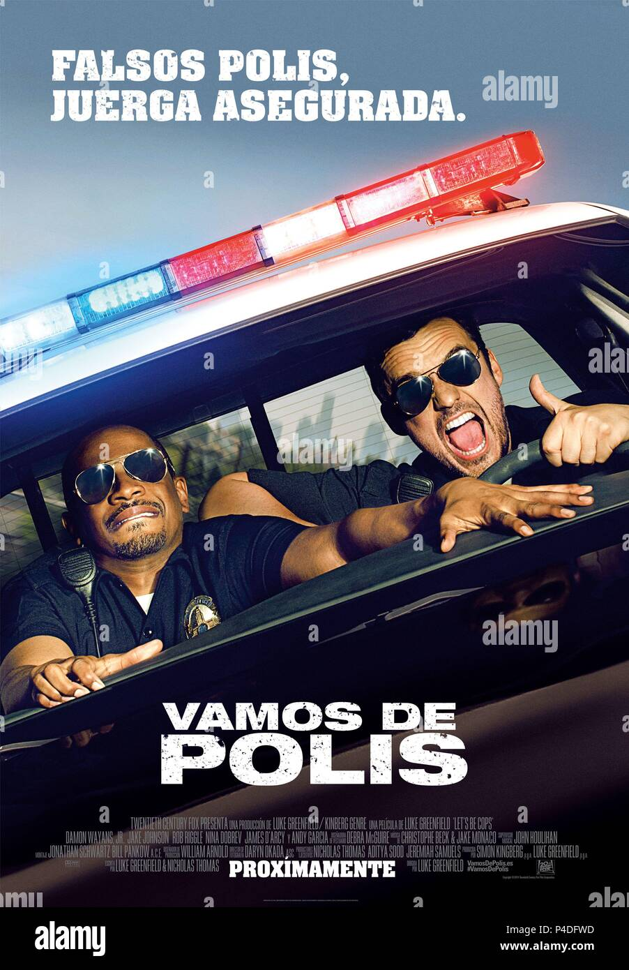 Original Film Title: LET'S BE COPS.  English Title: LET'S BE COPS.  Film Director: LUKE GREENFIELD.  Year: 2014. Credit: GENRE FILMS/TWENTIETH CENTURY FOX FILM CORPORATION/WIDEAWAKE / Album - Stock Image